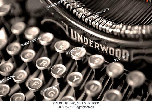 typewriter detail