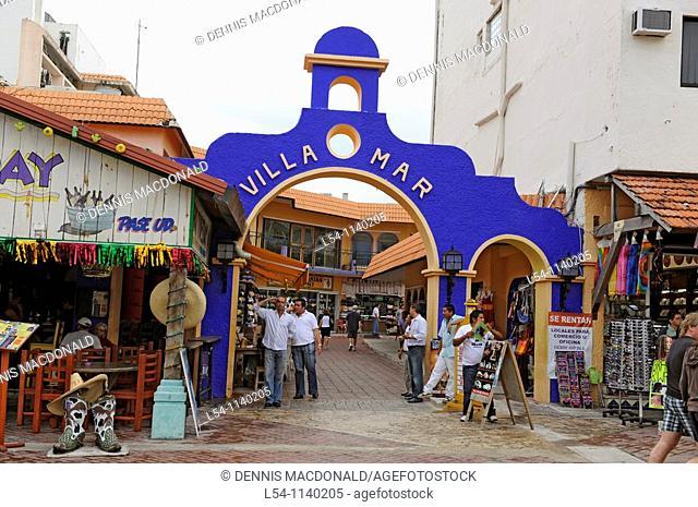 Shopping area near Caribbean Cruise Ship in Cozumel Mexico