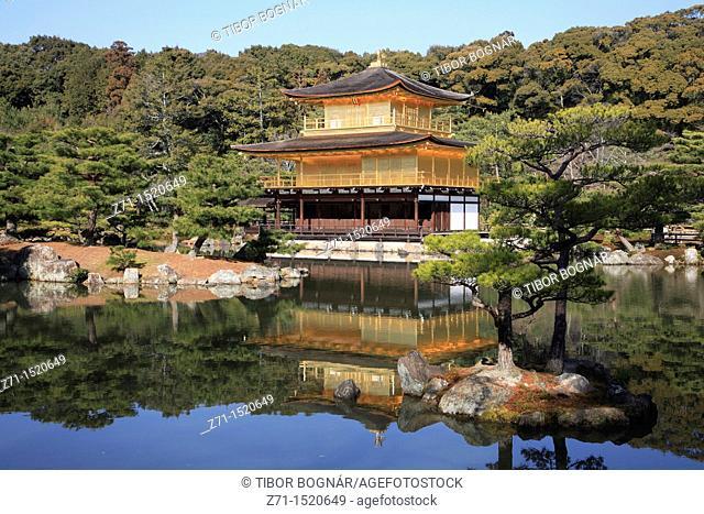Japan, Kansai, Kyoto, Kinkakuji Temple, Golden Pavilion