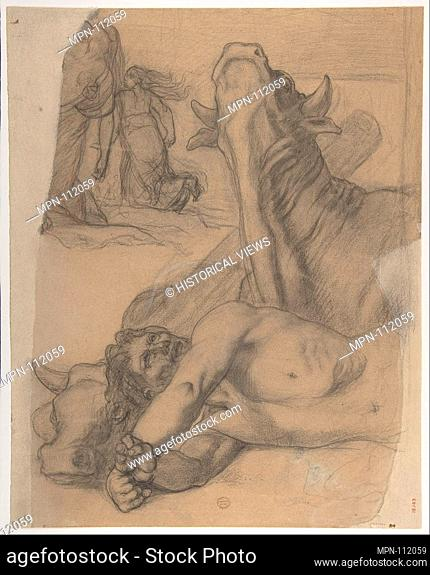 Sketch for War, painting in the Museum of Picardy at Amiens. Artist: Pierre Puvis de Chavannes (French, Lyons 1824-1898 Paris); Date: ca