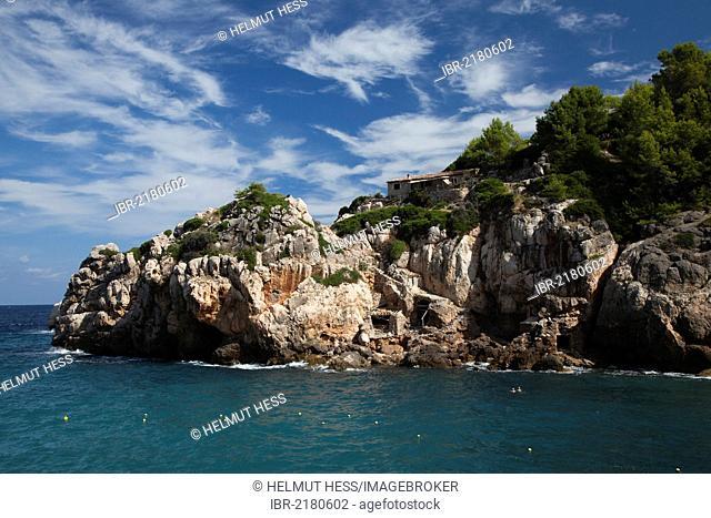 Coast, Cala Deia, Majorca, Balearic Islands, Spain, Europe