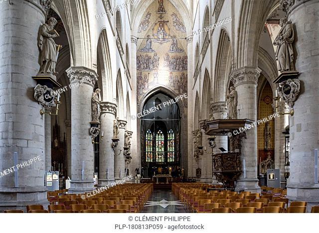 Collegiate church of St Walburga / Sint-Walburgakerk in the city Oudenaarde, East Flanders, Belgium