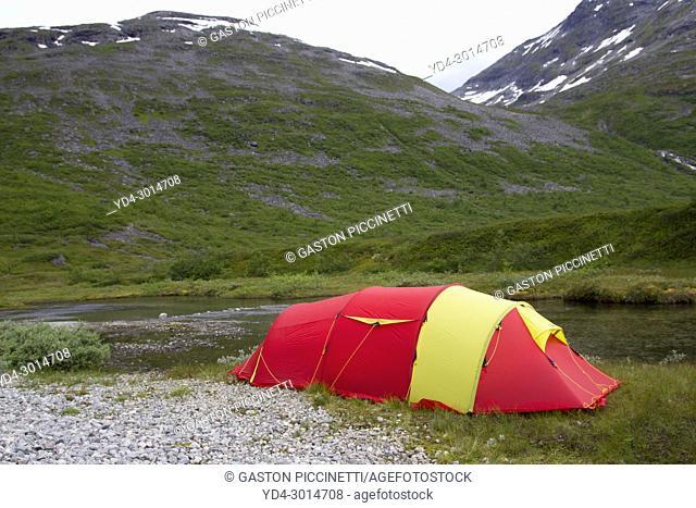 Free camping next to the National Tourist Route Geiranger - Trollstigen, Scandinavian, Norway