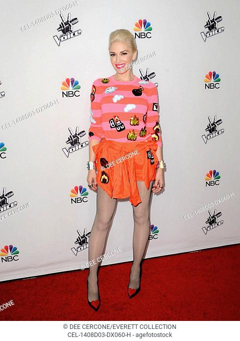 Gwen Stefani at arrivals for THE VOICE Season 7 Red Carpet Photo Op, Hyde Sunset, Los Angeles, CA December 8, 2014. Photo By: Dee Cercone/Everett Collection