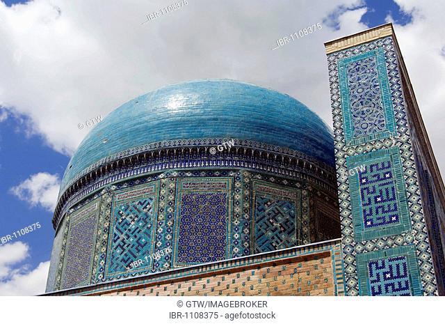 Usta Ali mausoleum, Shahr-I-Zindah or Shahi Sinda necropolis, Samarkand, UNESCO World Heritage Site, Uzbekistan