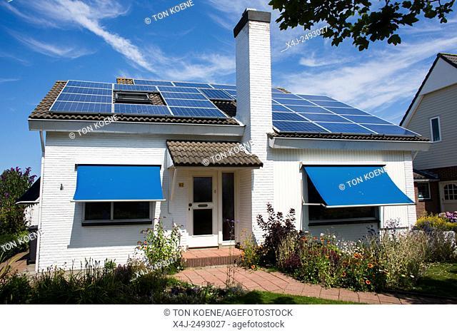 solar panels on a Dutch house