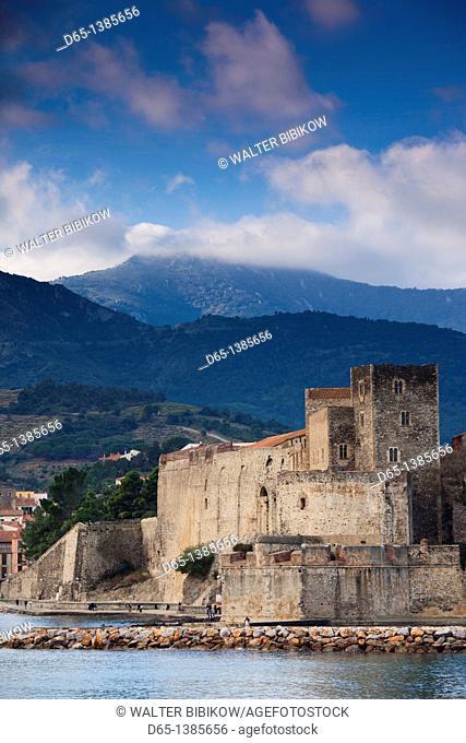 France, Languedoc-Roussillon, Pyrennes-Orientales Department, Vermillion Coast Area, Collioure, Chateau Royal