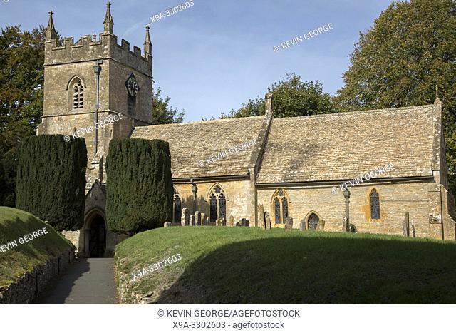 Parish Church, Upper Slaughter; Cotswold Village; Cheltenham; England; UK