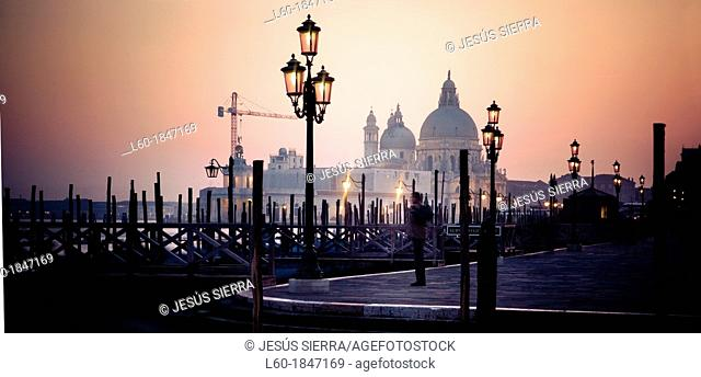 Santa Maria de la Salute Basilica, Venice, Veneto, Italy