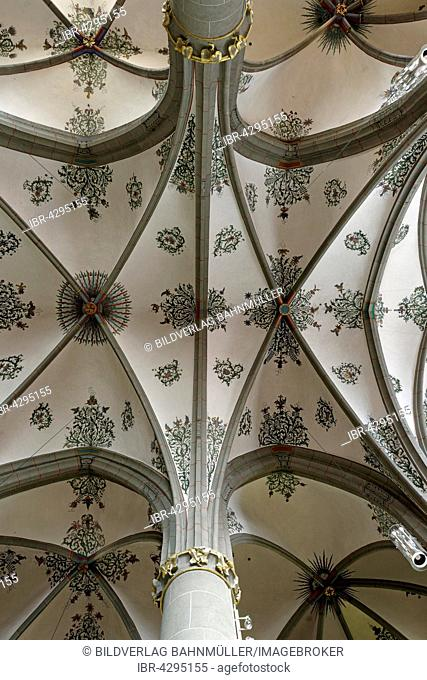 Arched ceiling, St. Laurentius parish church, Ahrweiler, Bad Neuenahr-Ahrweiler, Rhineland-Palatinate, Germany