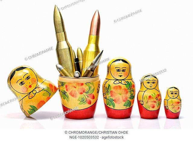 Russian Matryoshka and ammunition