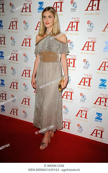 Arts for India Golden Gala - Arrivals Featuring: Donna Air Where: London, United Kingdom When: 31 May 2017 Credit: WENN.com
