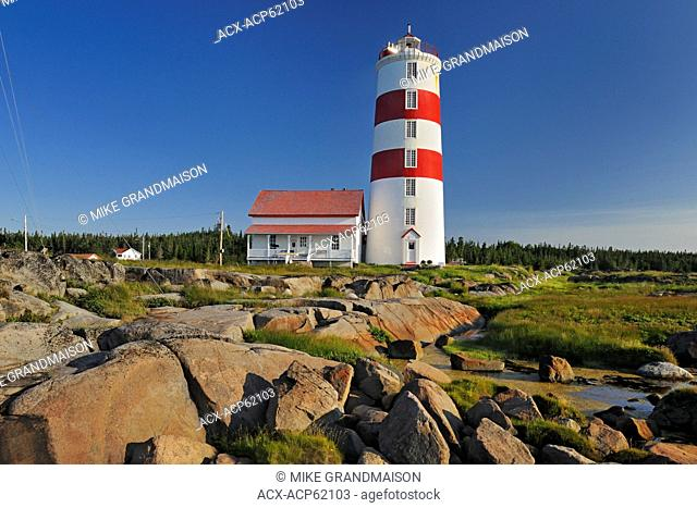 Pointe-des-Monts lighthouse, Baie Trinite, Quebec, Canada