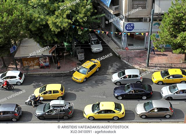 Traffic in Athens Greece