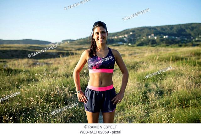 Portrait of a smiling jogger