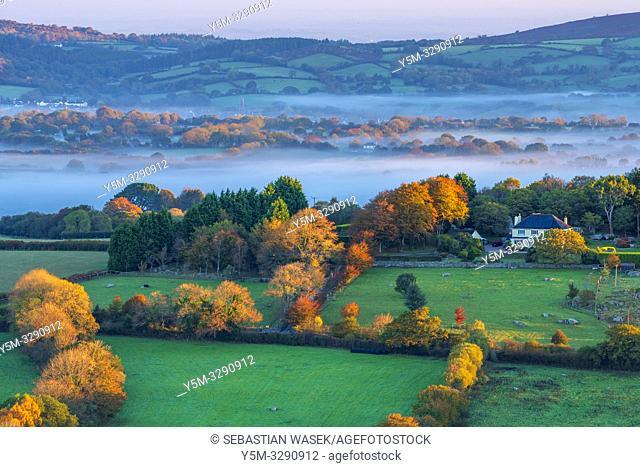Morning at Hayne Down, Dartmoor National Park, Manaton, Devon, England, United Kingdom, Europe