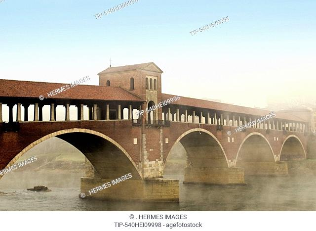 Covered bridge, Pavia, Italy
