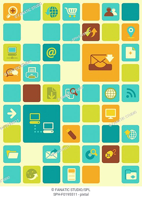Illustration of social networking icons