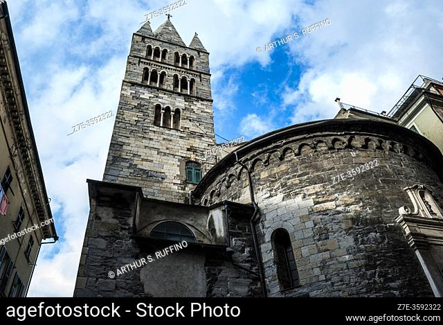 Bell tower and apse of Church of St. John of Pré (Chiesa di San Giovanni di Pré), Commandery of St. John of Prè (Complex of San Giovanni di Prè)