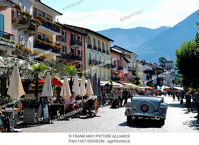 View of the city of Ascona in the Switzerland area Ticino, 24.September 2017. Photo: Frank May | usage worldwide. - Ascona/Tessin/Switzerland