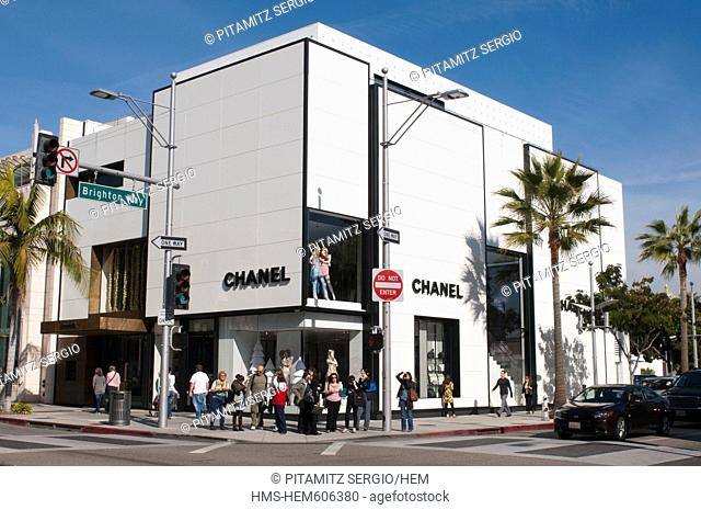 United States, California, Los Angeles, Beverly Hills, Chanel on Rodeo Drive