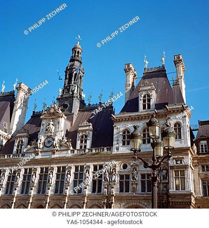 Hôtel de Ville Paris, detail