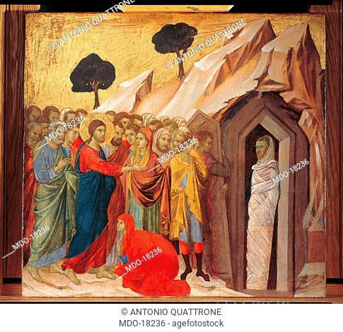 Maestà (Maestà del Duomo di Siena), by Duccio di Buoninsegna, 1308-1311, 14th Century, tempera on board, 211 x 426 cm