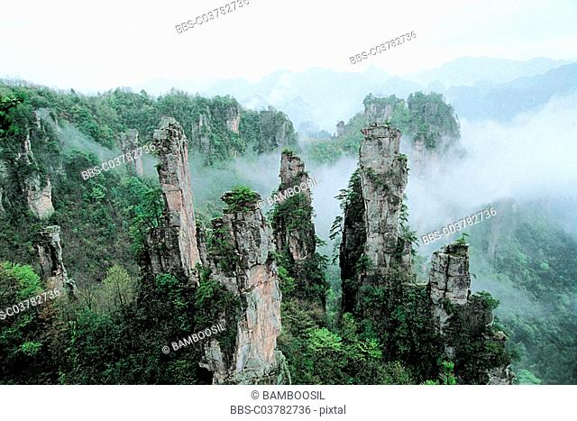 Emperor Mountain, Zhangjiajie City, Hunan Province of People's Republic of China