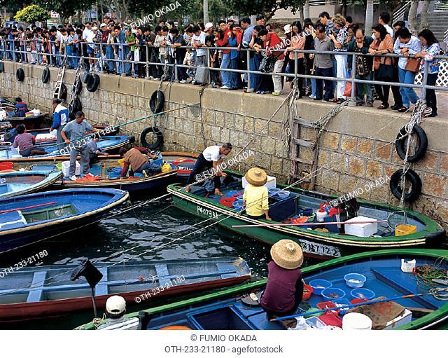 Floating market Sai Kung, Hong Kong