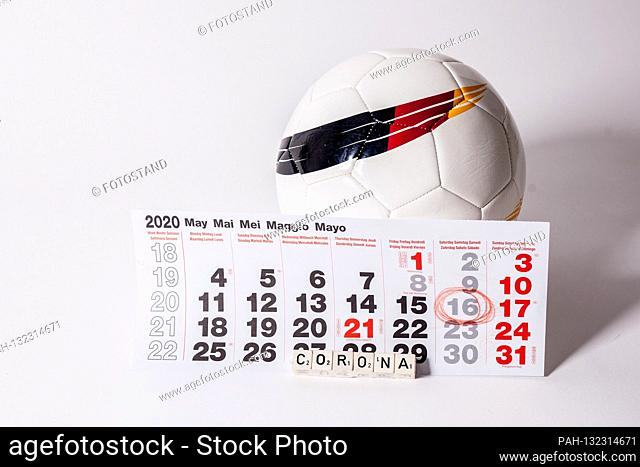 Germany 11.05.2020: Symbolic images - 2020 The ball rolls again on May 16, 2020 in the Bundesliga with strict hygiene requirements due to Coronavirus / Covid 19...