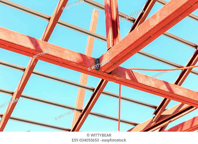 Roof steel construction for new house