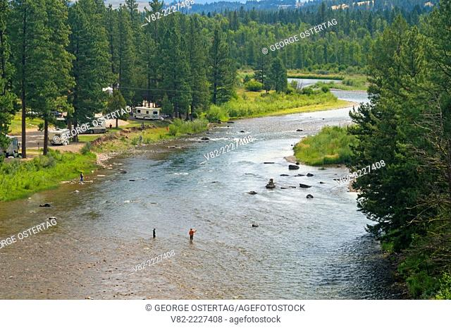Blackfoot River, Russell Gates Fishing Access Site, Missoula County, Montana