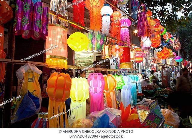 colourful diwali lanterns Mumbai Maharashtra India Asia