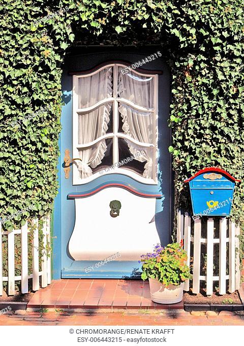 Frisian Door in Wyk on Föhr, Schleswig Holstein Germany, Europe