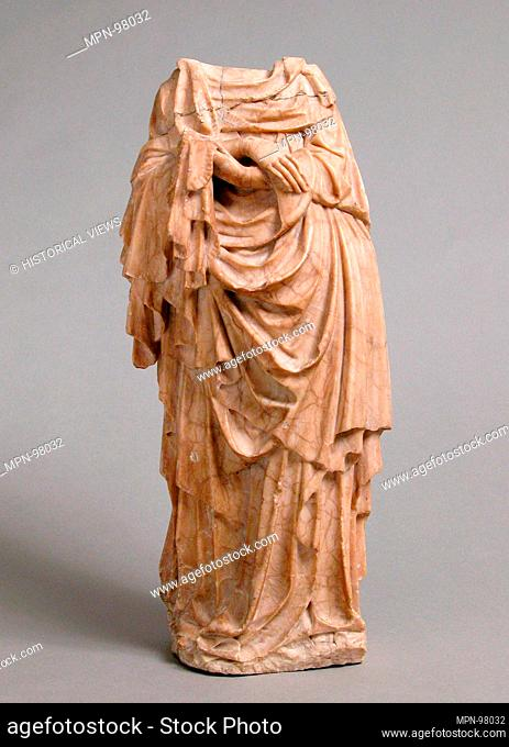 Holy Woman. Artist: Master of Rimini; Date: ca. 1430; Culture: North French or South Netherlandish; Medium: Alabaster; Dimensions: Overall: 14 1/2 x 6 1/4 x 4...