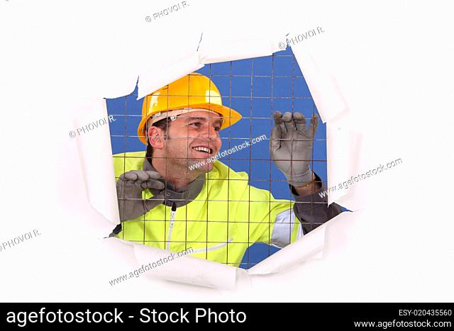 Trapped construction worker
