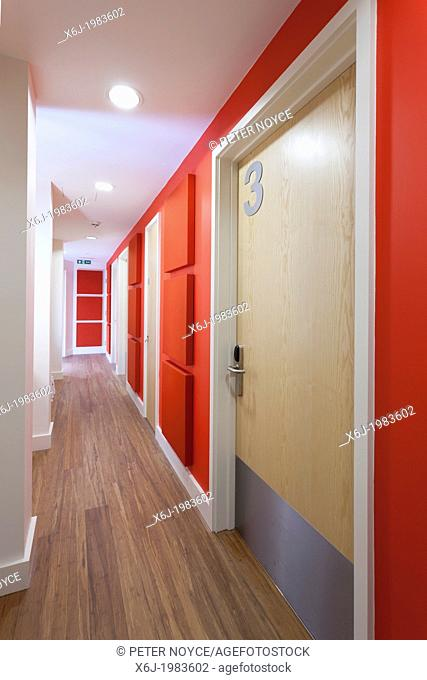 corridor to bedrooms at Damascus House and Emmaus House, Salisbury