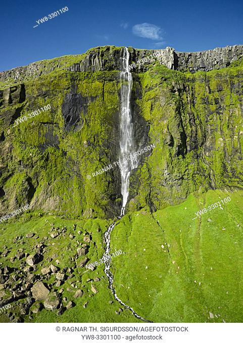 Drifandi waterfall, Seljalandsheidi heath, South Coast, Iceland