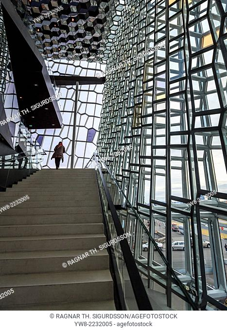 Interior of Harpa Concert and Conference Hall, Reykjavik, Iceland