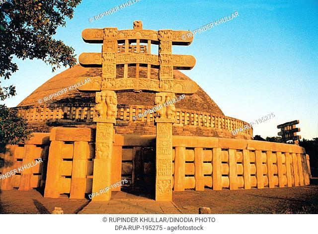Buddhist stupa at sanchi, madhya pradesh, india, asia