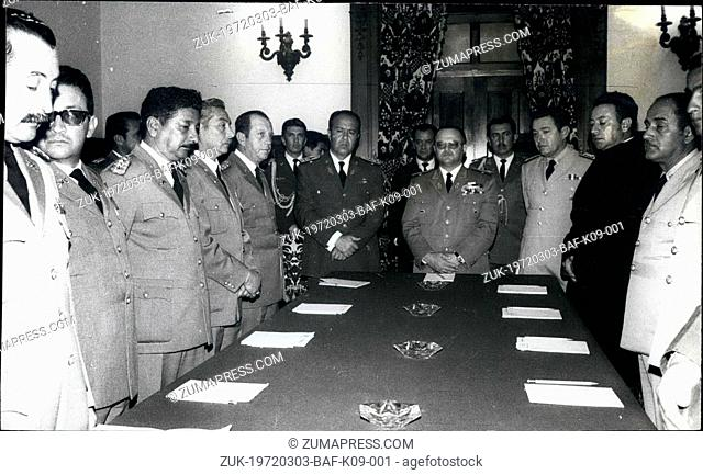 Mar. 03, 1972 - The new Ecuadorian Government, after top ranking officers ousted President Jose Maria Velasco Ibarra. At the center