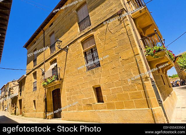 Typical Architecture, Street Scene, Cuzcurrita del Río Tirón, La Rioja, Spain, Europe