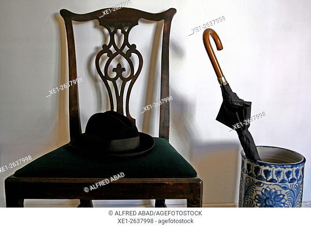 Chair, Vil.la Casals, Pau Casals Museum, El Vendrell, Tarragona, Catalonia, Spain