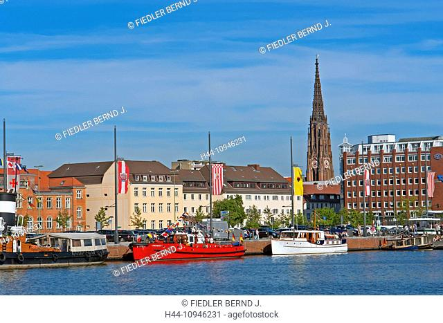 Europe, Germany, Bremen, Bremerhaven, Lohmannstrasse, new harbour, port, historical, ships, architecture, building, construction, technology, technics