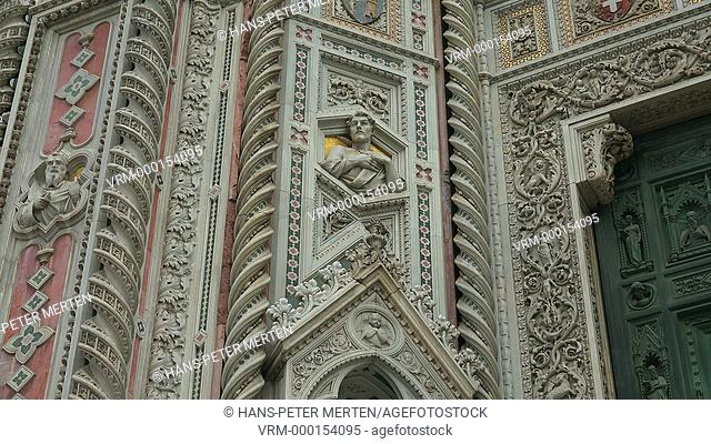 Details at the Duomo of Florence, Tuscany, Italy