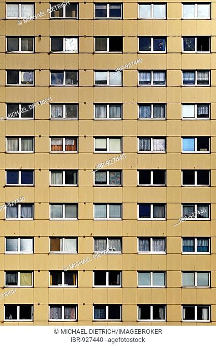 Facade of a block of flats, social housing