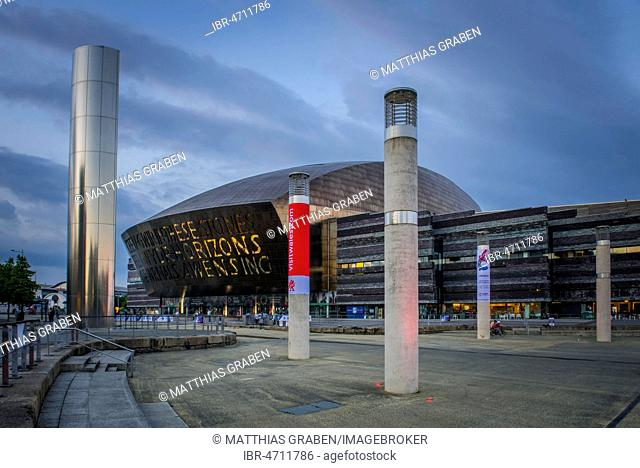 Welsh Millenium Centre, architect Percy Thomas, Event Centre, Cardiff, South Glamorgan, Wales, United Kingdom
