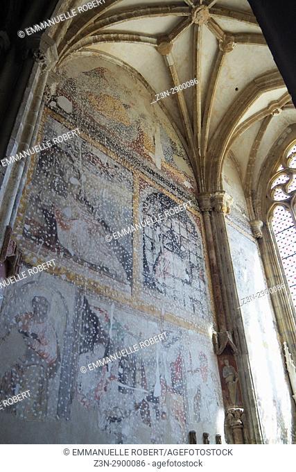 Church, St Antoine l'abbaye, Isere , Rhone Alpes, France, Europe