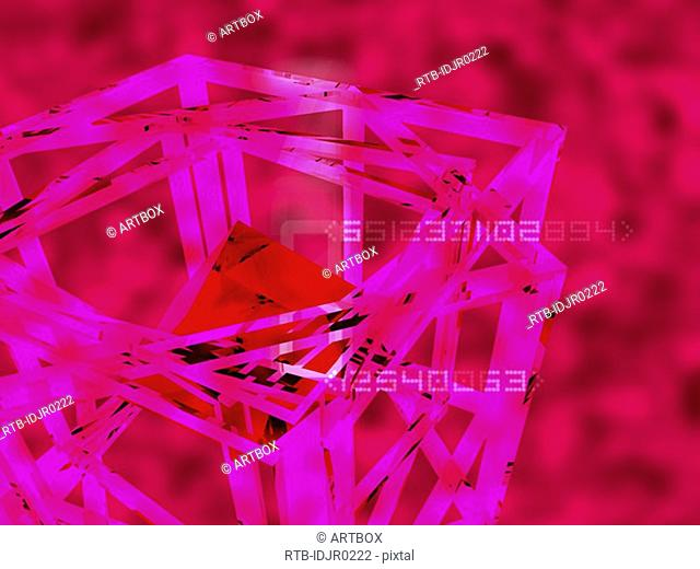 Abstract pattern on a pink background