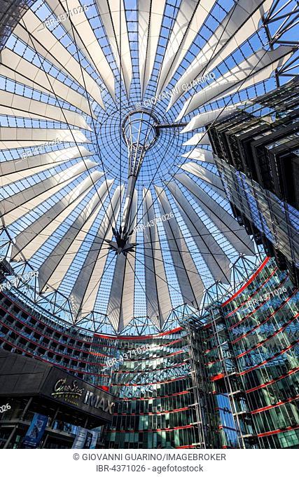Sony Center with glass dome, architect Helmut Jahn, Potsdamer Platz, Berlin, Deutschland